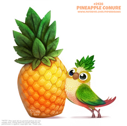 Daily Paint 2428. Pineapple Conure by Cryptid-Creations