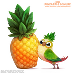 Daily Paint 2428. Pineapple Conure