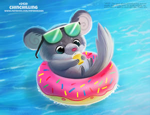 Daily Paint 2429. Chinchilling