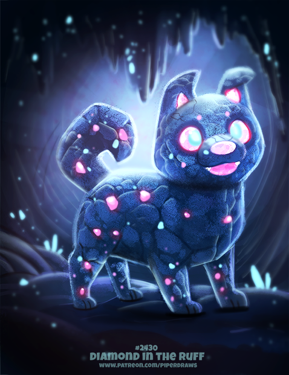 Daily Paint 2430. Diamond in the Ruff