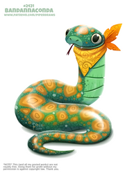 Daily Paint 2431. Bandannaconda by Cryptid-Creations