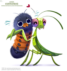 Daily Paint 2434. Cuddlebug by Cryptid-Creations