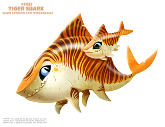 Daily Paint 2435. Tiger Shark by Cryptid-Creations