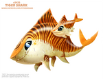 Daily Paint 2435. Tiger Shark