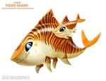 Daily Paint 2435. Tiger Shark