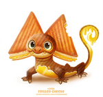Daily Paint 2436. Frilled Cheese