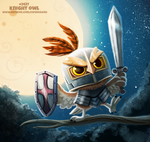 Daily Paint 2437. Knight Owl