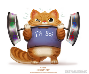 Daily Paint 2441. Hissy Fit