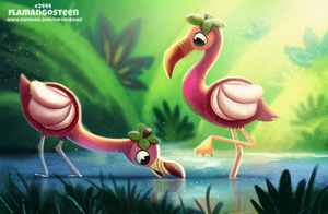 Daily Paint 2444. Flamangosteen