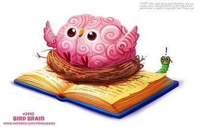 Daily Paint 2445. Bird Brain