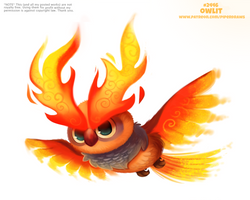Daily Paint 2446. Owlit