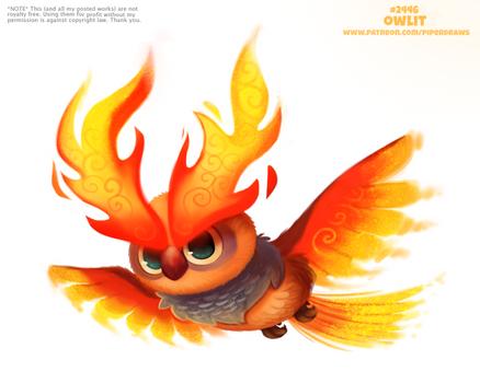 Daily Paint 2446. Owlit