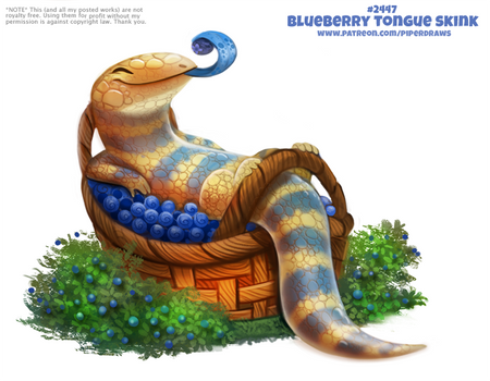 Daily Paint 2447. Blueberry Tongue Skink