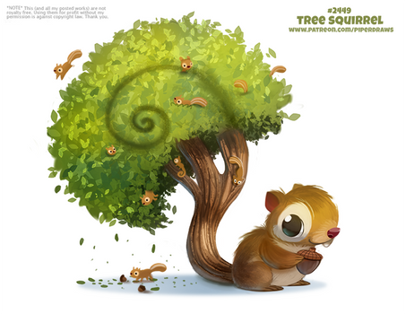 Daily Paint 2449. Tree Squirrel