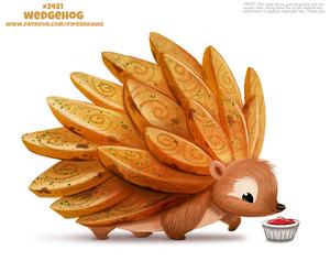 Daily Paint 2451. Wedgehog