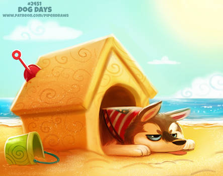 Daily Paint 2452. Dog Days