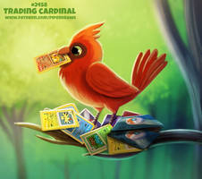 Daily Paint 2458. Trading Cardinal