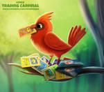 Daily Paint 2458. Trading Cardinal