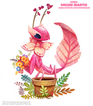 Daily Paint 2460. Orchid Mantis