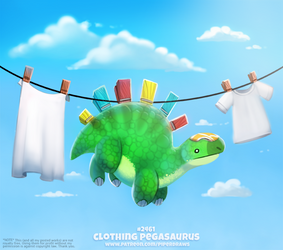 Daily Paint 2461. Clothing Pegasaurus
