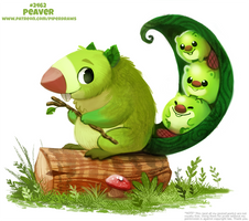 Daily Paint 2462. Peaver
