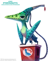 Daily Paint 2463. Petroldactyl