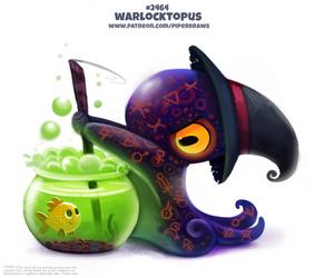 Daily Paint 2466. Warlocktopus
