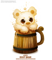 Daily Paint 2473. Root Bear