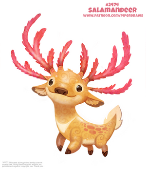 Daily Paint 2474. Salamandeer