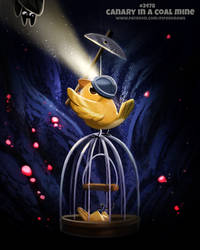 Daily Paint 2478. Canary in a Coal Mine