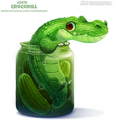 Daily Paint 2479. Crocodill