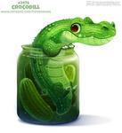 Daily Paint 2479. Crocodill