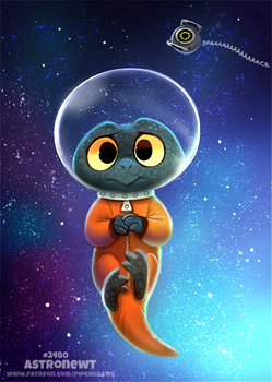 Daily Paint 2480. Astronewt