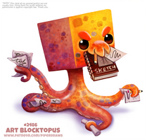 Daily Paint 2486. Art Blocktopus