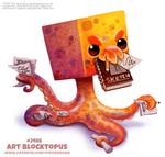 Daily Paint 2486. Art Blocktopus