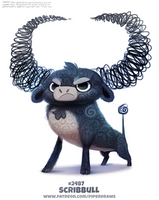 Daily Paint 2487. Scribbull