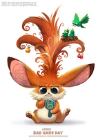 Daily Paint 2489. Bad Hare Day