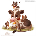 Daily Paint 2490. Cattle