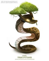 Daily Paint 2492. Tree Python