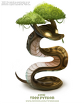 Daily Paint 2492. Tree Python