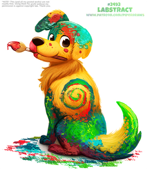 Daily Paint 2493. Labstract