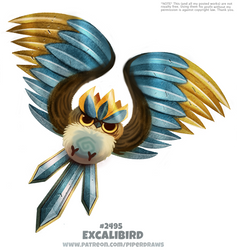 Daily Paint 2495. Excalibird