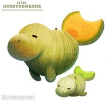 Daily Paint 2496. Honeydewgong