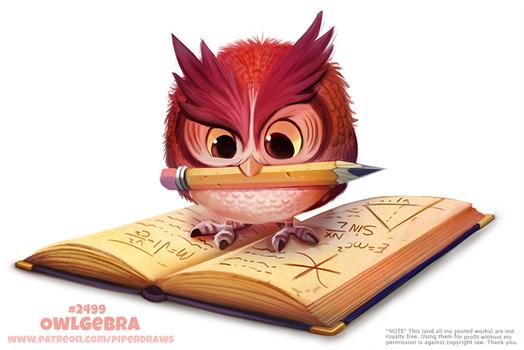 Daily Paint 2499. Owlgebra