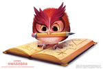 Daily Paint 2499. Owlgebra