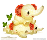 Daily Paint 2500. Mozzarellaphant