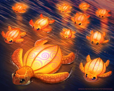 #2513. Lantern Turtles - Illustration