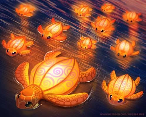 #2513. Lantern Turtles - Illustration