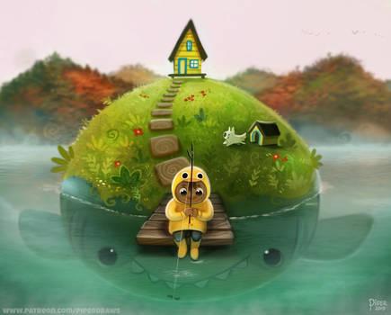 #2517. Gone Fishing - Illustration