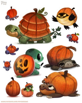 #2535. Pumpkin Turtles - Designs